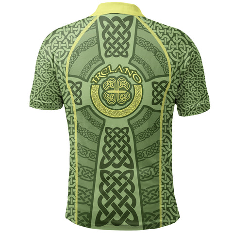 Ireland Celtic Cross Polo Shirt, Celtic Shamrock Golf Shirts - Customized K5