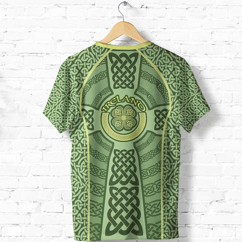 Ireland Celtic Cross T Shirt, Celtic Shamrock Shirt K5