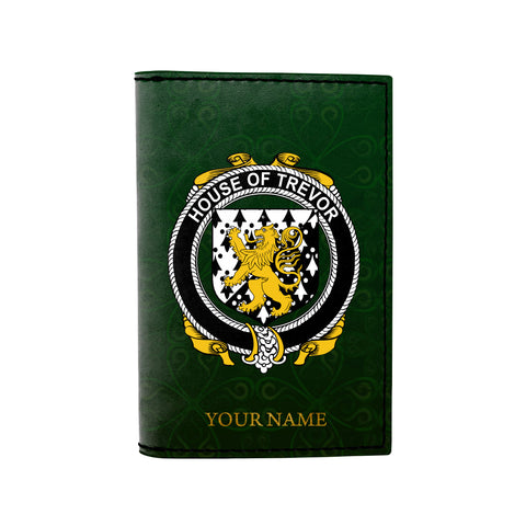 (Laser Personalized Text) Trevor Family Crest Minimalist Wallet