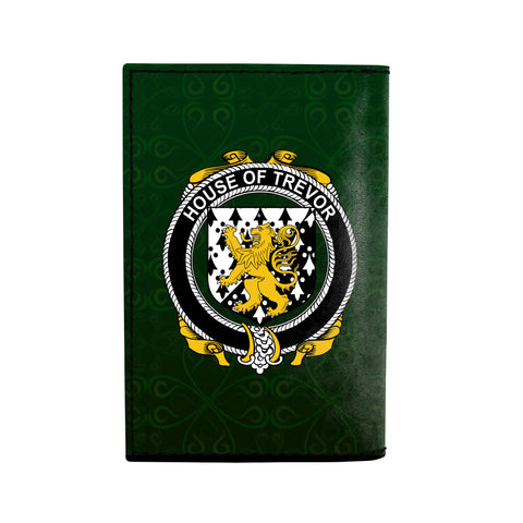 (Laser Personalized Text) Trevor Family Crest Minimalist Wallet K6
