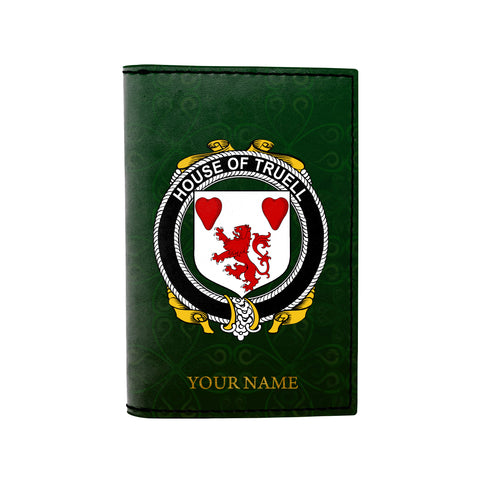 (Laser Personalized Text) Truell Family Crest Minimalist Wallet