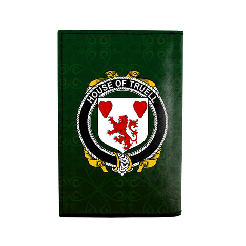 (Laser Personalized Text) Truell Family Crest Minimalist Wallet K6