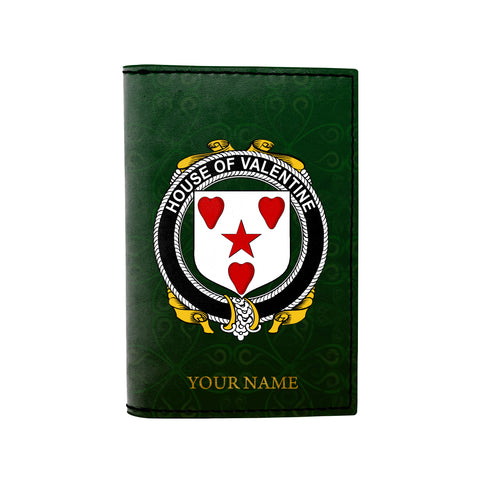 (Laser Personalized Text) Valentine Family Crest Minimalist Wallet