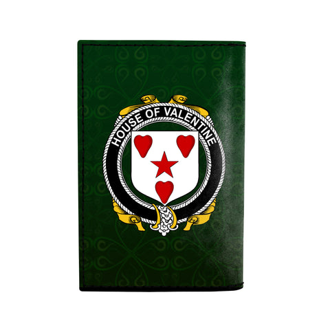 (Laser Personalized Text) Valentine Family Crest Minimalist Wallet K6