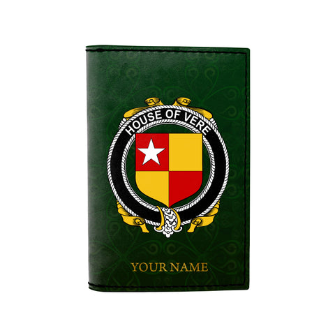 (Laser Personalized Text) Vere Family Crest Minimalist Wallet