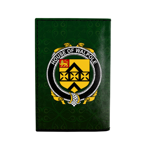 Image of (Laser Personalized Text) Walpole Family Crest Minimalist Wallet K6