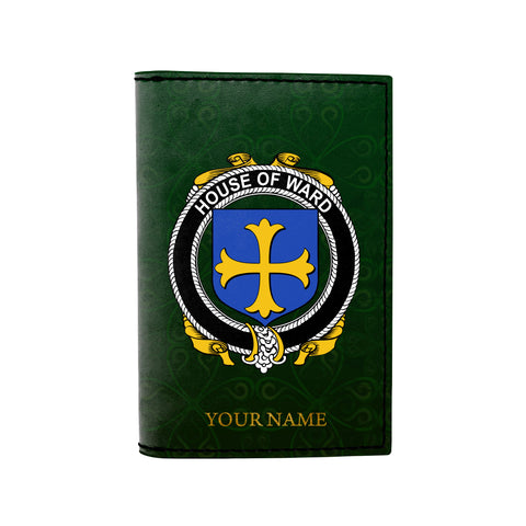 (Laser Personalized Text) Ward Family Crest Minimalist Wallet