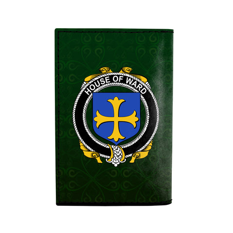 (Laser Personalized Text) Ward Family Crest Minimalist Wallet K6