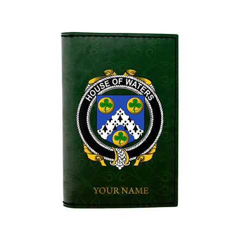 (Laser Personalized Text) Waters Family Crest Minimalist Wallet
