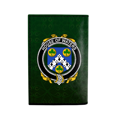 (Laser Personalized Text) Waters Family Crest Minimalist Wallet K6