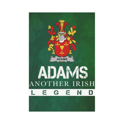 Irish Garden Flag, Adams Family Crest Shamrock Yard Flag