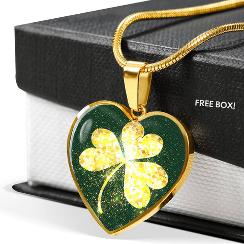 Image of Shining Golden Shamrock™ Women Necklace - Irish Jewelry Gold