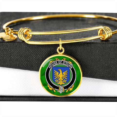 Image of Irish Bangle, Dunn or O'Dunn Family Crest Luxury Heart Shape Bangle