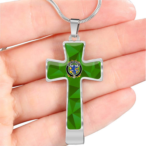 Irish Necklace, Bagnall Family Crest Cross Necklace