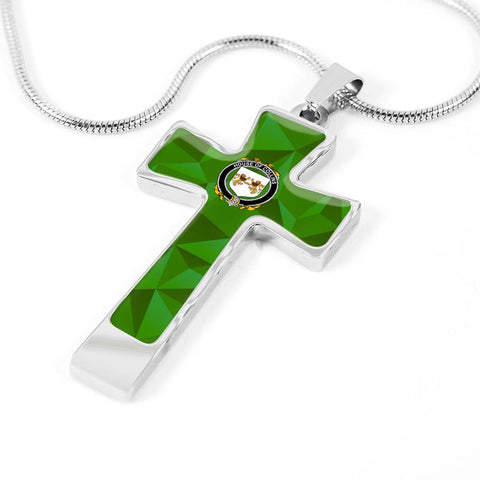 Irish Necklace, Collins Family Crest Cross Necklace