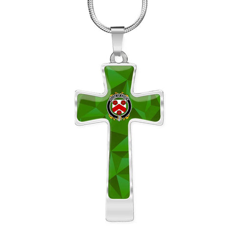 Irish Necklace, Agnew Family Crest Cross Necklace