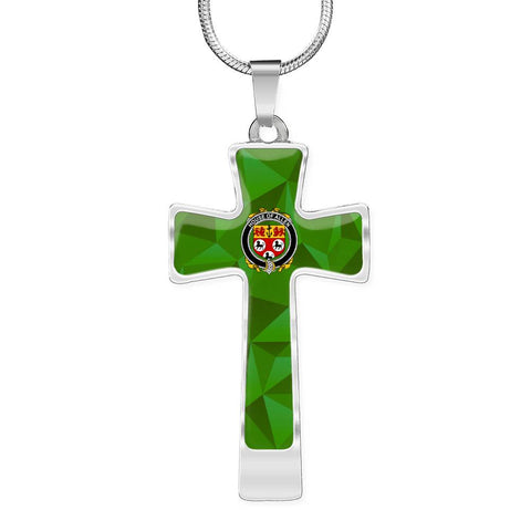 Irish Necklace, Allen Family Crest Cross Necklace