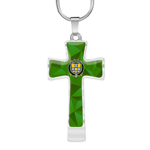 Irish Necklace, Accotts Family Crest Cross Necklace