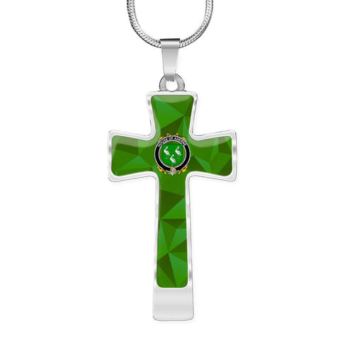 Irish Necklace, Aherne or Mulhern Family Crest Cross Necklace