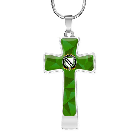 Irish Necklace, Bunbury Family Crest Cross Necklace