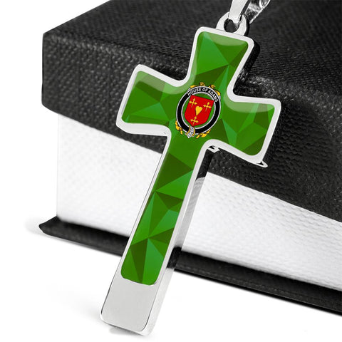 Irish Necklace, Adams Family Crest Cross Necklace