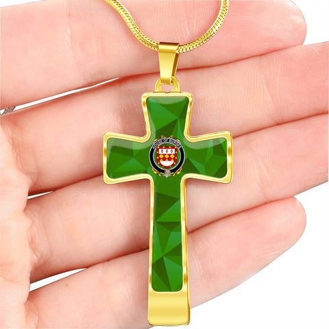Irish Necklace, Burges Family Crest Cross Necklace
