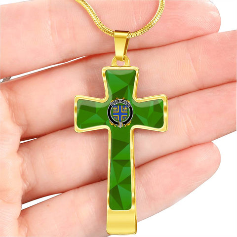 Irish Necklace, Acotes Family Crest Cross Necklace