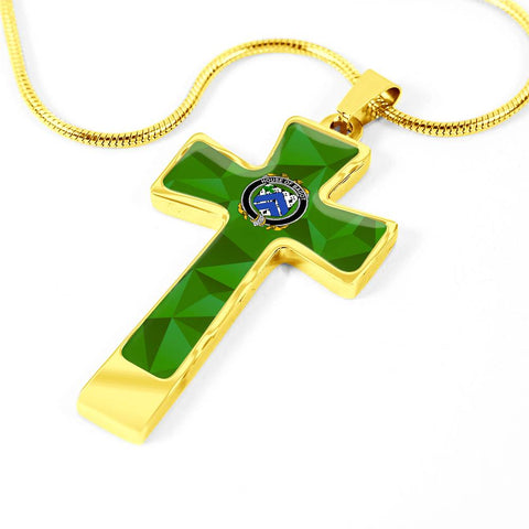 Irish Necklace, Bagot Family Crest Cross Necklace