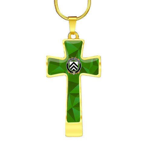 Irish Necklace, Archdekin Family Crest Cross Necklace