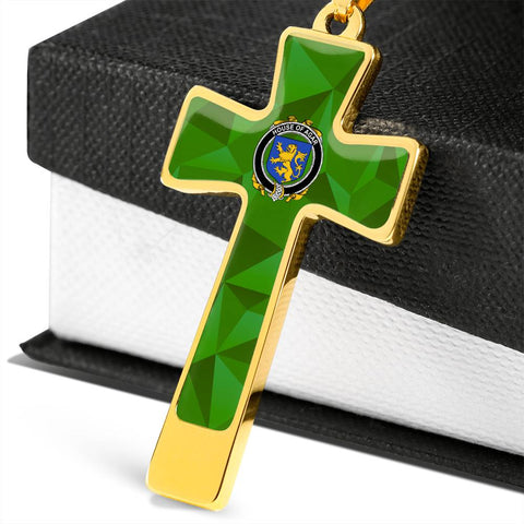 Irish Necklace, Agar Family Crest Cross Necklace