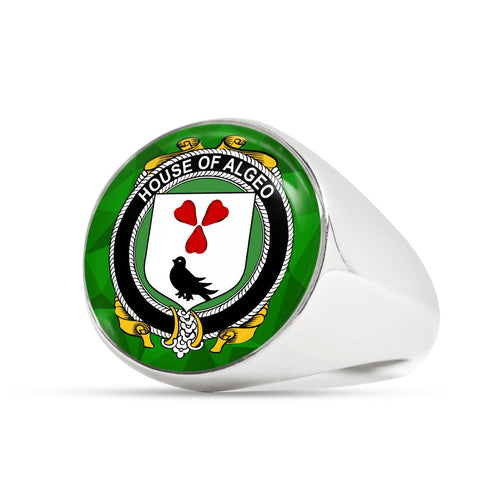 Irish Ring, Algeo Family Crest Signet Ring