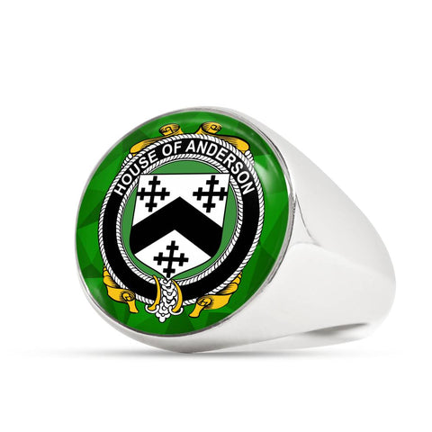 Irish Ring, Anderson Family Crest Signet Ring