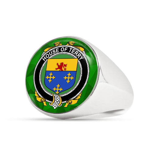 Irish Ring, Terry Family Crest Signet Ring