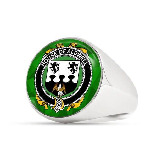 Irish Ring, Aldwell Family Crest Signet Ring