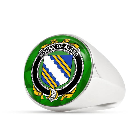 Irish Ring, Aland Family Crest Signet Ring