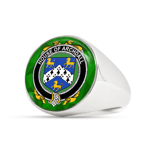 Irish Ring, Archdall Family Crest Signet Ring