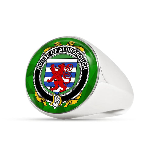 Irish Ring, Aldborough Family Crest Signet Ring