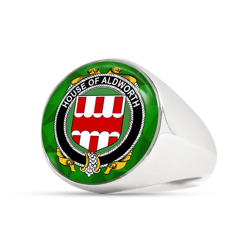 Irish Ring, Aldworth Family Crest Signet Ring