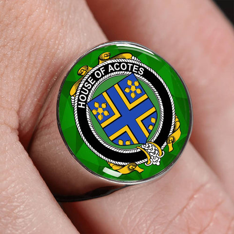 Irish Ring, Acotes Family Crest Signet Ring