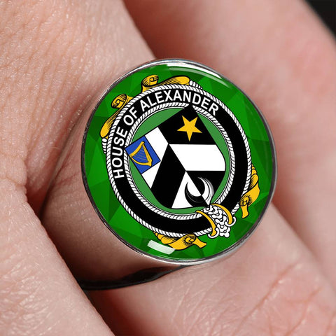 Irish Ring, Alexander Family Crest Signet Ring