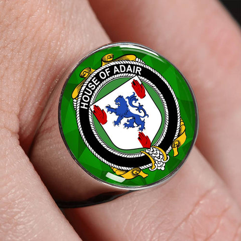 Irish Ring, Adair Family Crest Signet Ring