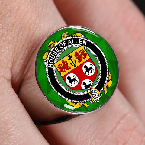 Irish Ring, Allen Family Crest Signet Ring
