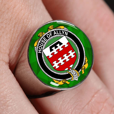 Irish Ring, Allyn Family Crest Signet Ring