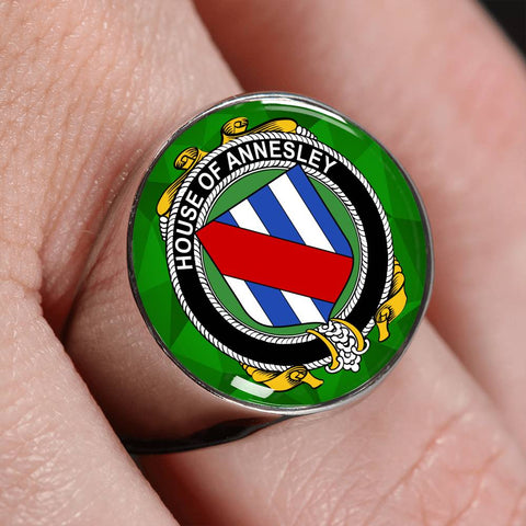 Irish Ring, Annesley Family Crest Signet Ring