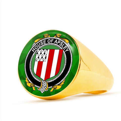 Irish Ring, Apsley Family Crest Signet Ring