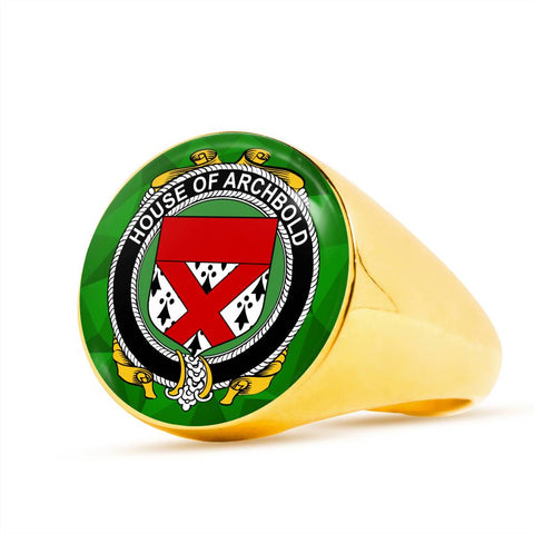 Irish Ring, Archbold Family Crest Signet Ring