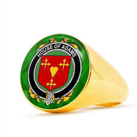 Irish Ring, Adams Family Crest Signet Ring