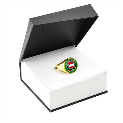 Irish Ring, Alcock Family Crest Signet Ring