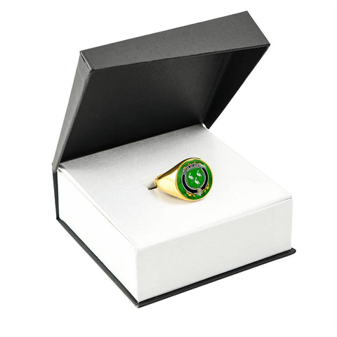 Irish Ring, Aherne or Mulhern Family Crest Signet Ring