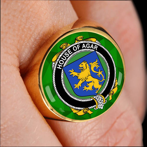 Irish Ring, Agar Family Crest Signet Ring